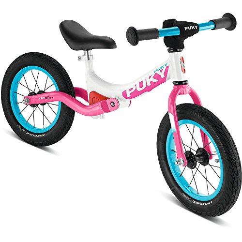 Puky LR Ride Kinder Laufrad mit Federung weiß/pink