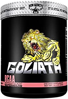 Goliath   Iron Addicts   BCAA Amino Acid Formula   Formulated By CT Fletcher (30 Servings, MuthaF*ckin Watermelon)