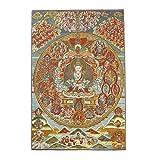 Seidenstickerei tibetische Thangka mit grünem