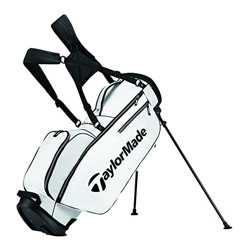 TaylorMade 2017 TM 5.0 Stand Golf Bag, White/Black