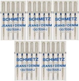 25 Schmetz Jeans Denim Sewing Machine Needles 130/705H-J Size 110/18