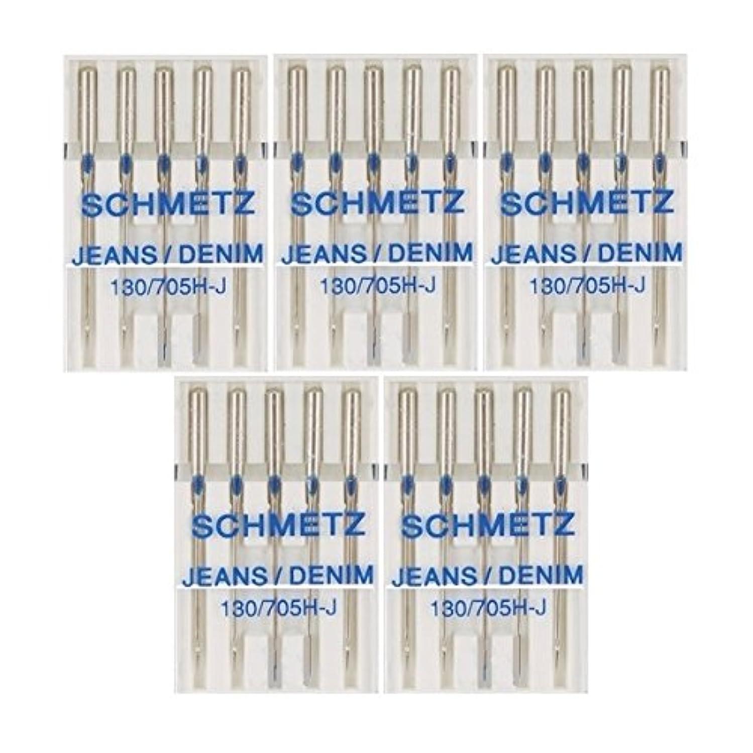 25 Schmetz Jeans Denim Sewing Machine Needles 130/705H-J Size 100/16