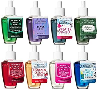 Bath and Body Works Christmas Faves 8 Pack Wallflowers Fragrances Refill. 0.8 Oz.