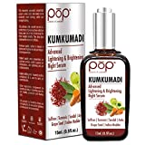 POP (Potions of Paradise) Kumkumadi Advanced Brightening Night Serum with Kashmiri Saffron, Turmeric, Emblica, Sandalwood, Grape Seed, Manjistha