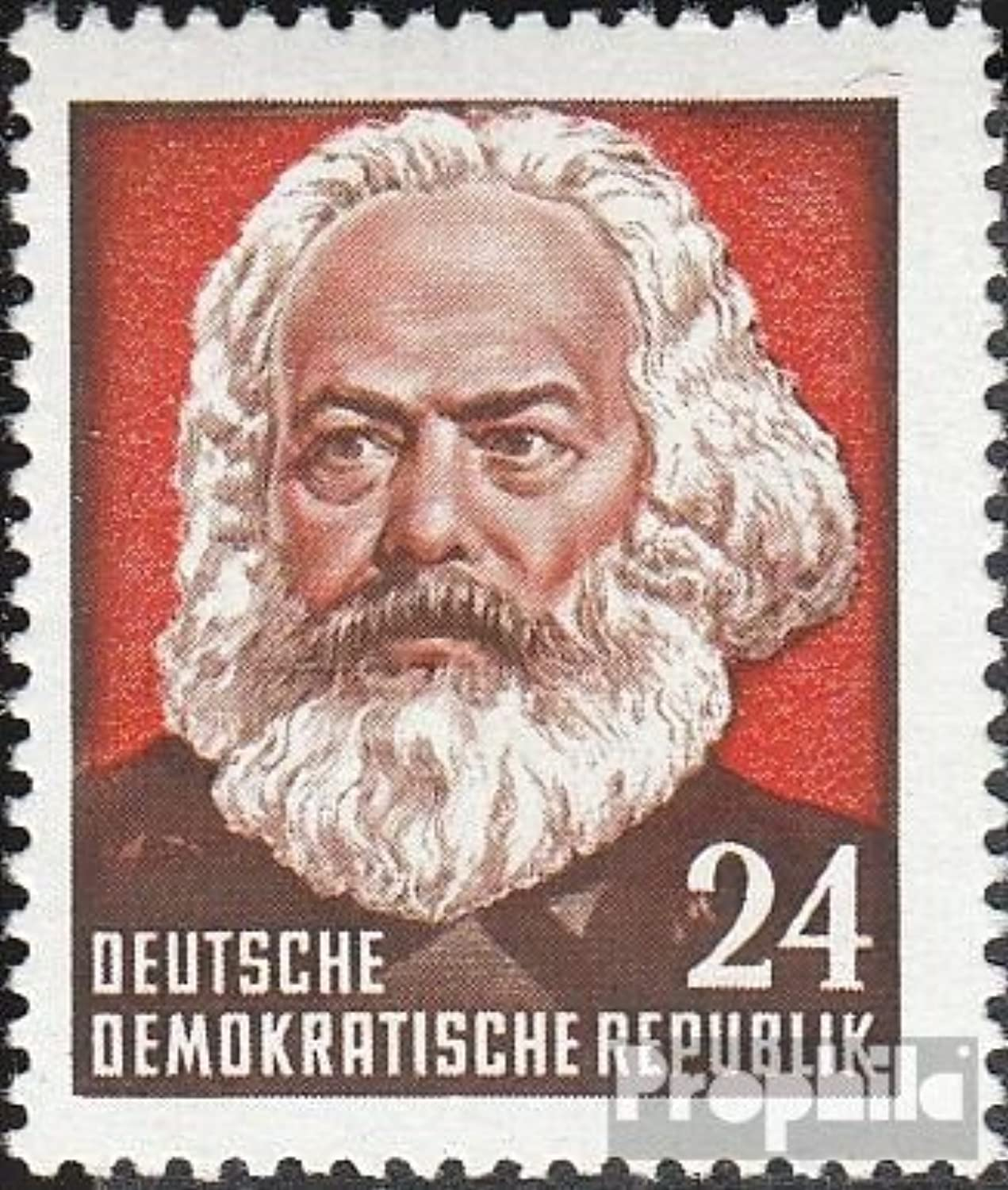 DDR 349II, type II, schlanke Inscription 1953 70.Death of Marx (Stamps for collectors)