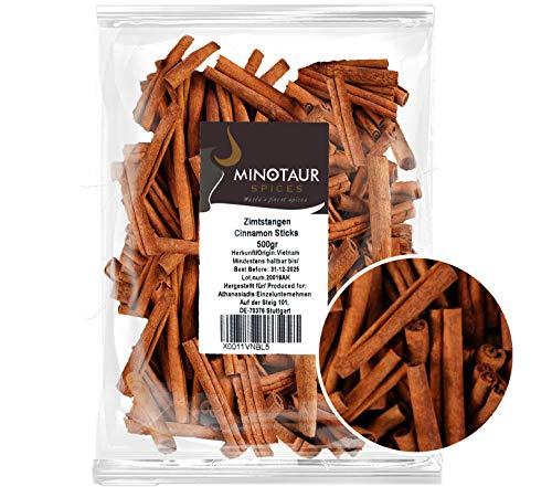 Minotaur Spices | Zimtstangen, 2 X 500g (1 Kg) Zimt Stangen | ca. 160 - 170 Stück | ca. 8 cm lang