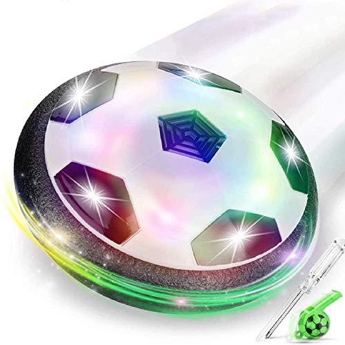 lenbest Hover Ball Calcio, Pallone da Calcio da Interno Fluttuante con Luci a LED, Hover Calcio Soccer Ball Sportivo Regalo Giochi Bambini (Fischietto di ricompensa)