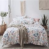 BELOVINGSHOP Bettbezug-Set, Bettwäsche aus 100% Baumwolle Inklusive 1 Bettbezug sowie 1 Kissenbezüge und 1 Bettlaken, Faltenbeständigkeit, Lichtechtheit, Antifouling,6,Single