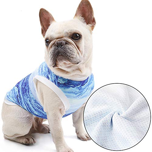 NACOCO Dog Cool Vest Instant Cooling Clothes for Bulldog Cats on Summer