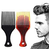 JONKY Large Black Styling Tool Hair Combs Stylist Comb for Slicked Back Undercut Smooth Salon Home Personal Hair Combs for Women and Men (Pack of 2)