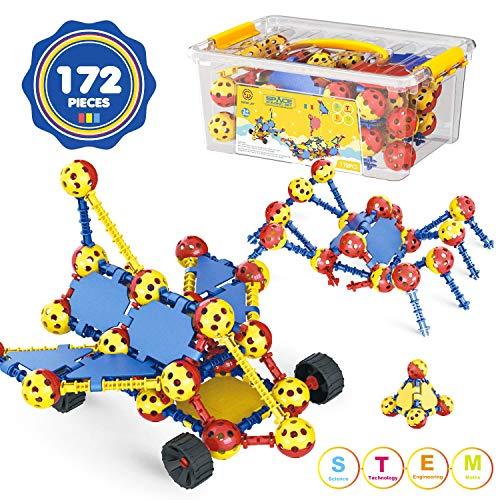 Aokesi STEM Building Toys for Kids 172 PCS Snap Together...