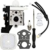 Dalom SRM225 Carburetor w Tune Up Kit Fuel Line for Echo SRM 225 GT225 PE225 PAS225 SHC225 SRM225i SRM225U SRM225SB GT225i GT225L Trimmer Brushcutter