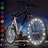 Activ Life Bike Light (2 Pack, White) Hot Gifts for Boys, Girls & Fun Ideas for Him and Her Presents - Popular Bicycle Wheel Accessories & Decorations for Bright Safety & Style LED Bulbs Night Rides