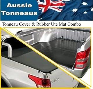 Mitsubishi MQ Triton Dual Cab Clip On Ute Tonneau Cover & Rubber Ute Mat Combo