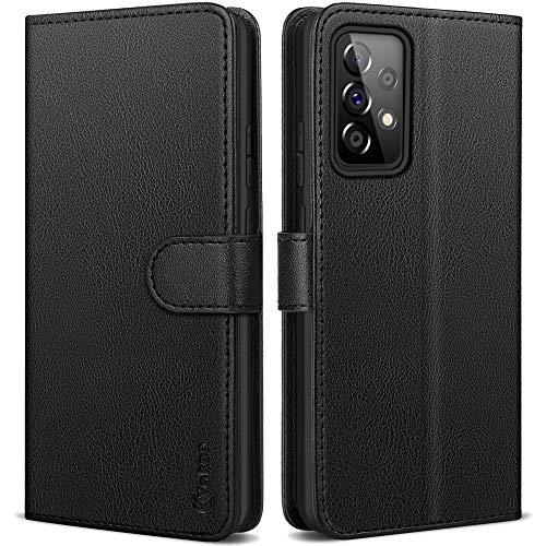 Vakoo Wallet Serie Handyhülle für Samsung Galaxy A52 Hülle, mit RFID Schutz (Schwarz)