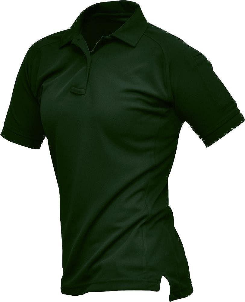 Vertx womens Women's Coldblack Short Sleeve Polo Shirt, Spruce Green, Medium