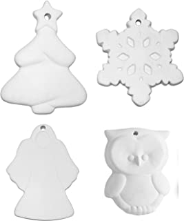 2019 Holiday Ornament Collection - Set of 4 - Paint Your Own Ceramic Keepsakes