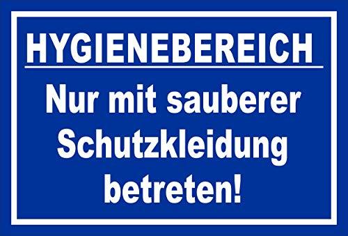 Melis Folienwerkstatt Schild Hygienebereich - 45x30cm - Bohrlöcher - 3mm Hartschaum – 20 VAR S00225-010-F