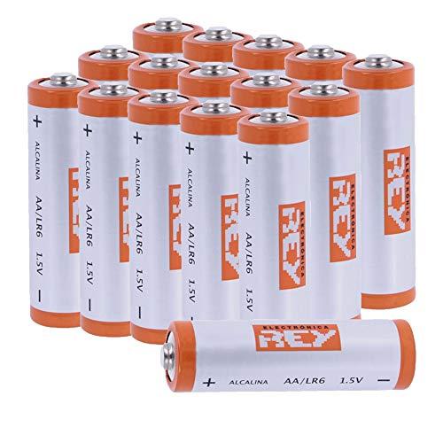 Pack 16X Batteria Alcaline Stilo AA LR6 1.5v, Pacco da 16 Pile