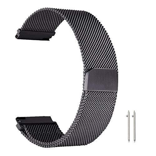 Reemplazo de la Correa de Reloj, Correas de Reloj Correa de 22 mm para Samsung Gear S3 Galaxy Watch 46MM 42MM Active 2 Band 20mm Banda de Acero Inoxidable para Gear S2 Amazfit #### Compatible