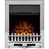 Adam Blenheim Electric Fire in Chrome