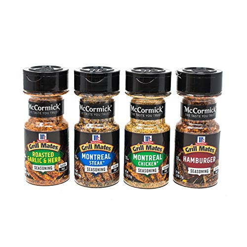 McCormick Grill Mates Spices, Everyday Grilling Variety Pack (Montreal Steak, Montreal Chicken, Roasted Garlic & Herb, Hamburger), 4 Count