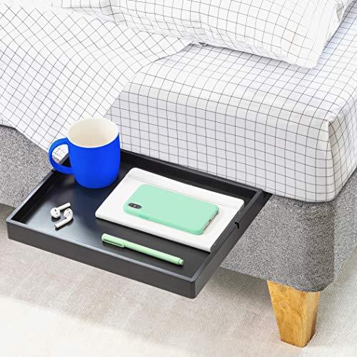 BedShelfie Slide Das Original Nachttisch Regal - 3 Farben / 3 Größen - GESEHEN AUF Business-Insider und Kickstarter (Slide, Bambus in Schwarz)
