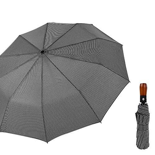 YXZQ Schirmständer, klappbarer Karierter Regenschirm Tragbarer Outdoor-Reisewetter Mini Wetterfester winddichter automatischer Regenschirm Plaid-Regenschirm mit doppeltem Verwendungszweck
