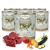 AniForte Hundefutter Nass Country Beef 6 x 800g – Nassfutter für Hunde, Frisches Rind mit Gemüse & Früchten, hoher Fleischanteil, Natürliches Hundenassfutter mit Extra viel Fleisch, getreidefrei