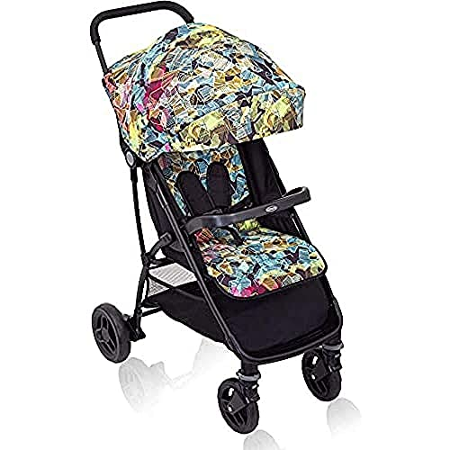 Graco Breaze Lite Pushchair/Stroller (Birth to 3 Years Approx, 0-15 kg), Lightweight and Easy Fold, Kaleidoscope