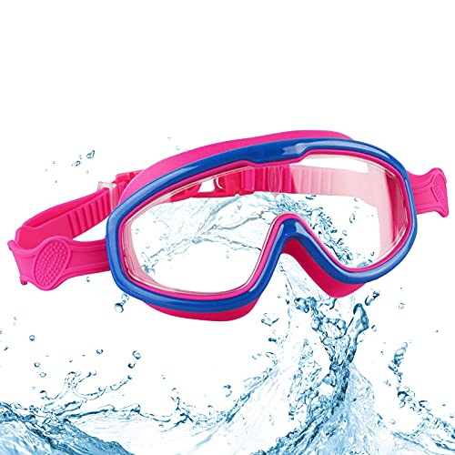 Nizirioo Gafas de buceo para niños, gafas de natación para niños, gafas de buceo, gafas de natación para niños, gafas de natación para la playa, gafas de natación ajustables de silicona