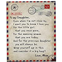フランネルスローブランケット娘の息子の父母の手紙プリントキルトお父さんママ毛布の癒しとポジティブなエネルギー毛布ソファ、旅行、暖かい,2,59*51