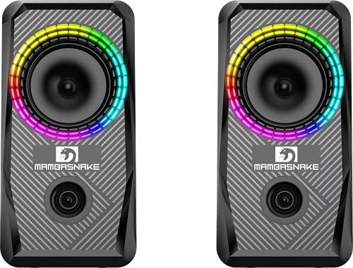 Kabelgebundene RGB-Computer-Lautsprecher, USB-betriebene PC-Lautsprecher,...