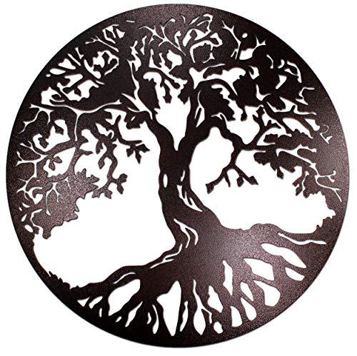 Albero della vita in rame anticato, per il giardino, la casa, l'ufficio, scultura in acciaio e metallo, arte da parete (35cm)