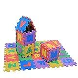 Kids Foam Puzzle Floor Play Mat, 36Pcs Soft EVA Foam Play Mat Mat Baldosas Multicolores para niños Números y Letras Bebé Niños Niños Jugando Crawling Pad Toys