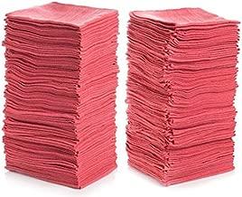 """Simpli-Magic 78966-100PK Red 100 Pack Shop Towels 14""""x12"""", 100 Pack"""