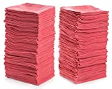 "Simpli-Magic 78966-100PK Shop Towels 14""x12"", Red, 100 Pack"