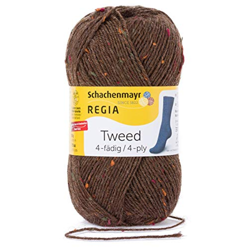 Schachenmayr REGIA Handstrickgarne 4-fädig Tweed, 50g Borke Tweed