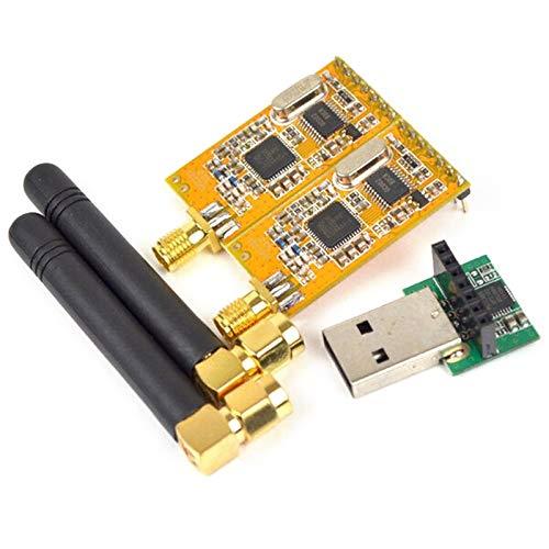 Fauge APC220 MóDulos InaláMbricos de Datos Seriales de RF con Antenas Kit de Adaptador de MóDulo Convertidor USB para 3.3V-5V