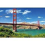 GREAT ART® XXL Poster – Golden Gate Bridge – Wandbild