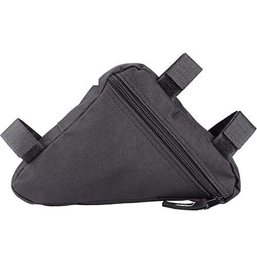 afdg Fahrrad Dreiecktasche, wasserdichte Radtasche Triangle Bag, Fahrradrahmentasche, Fahrrad Werkzeugtasche für Fahrradschloss, Werkzeug, Regenjacke etc (Black)