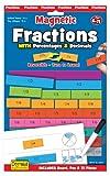 Fiesta - Set di Gioco con tasselli magnetici Double-Face per impara frazioni, decimali e percentuali [Lingua Inglese]