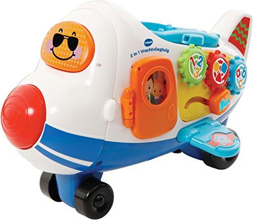 VTech - Toet Toet Auto's 2 in 1 Vrachtvliegtuig - Inclusief Vince Vliegtuig - Multikleuren - Plastic - Voor Jongens en Meisjes - Van 1 tot 5 jaar - Nederlands Gesproken