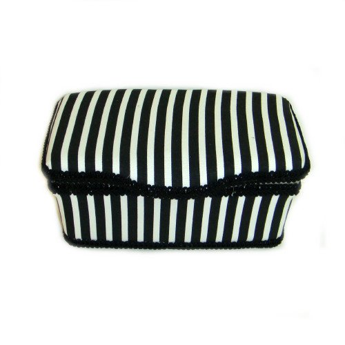 Black and White Stripes Boutique baby wipes case