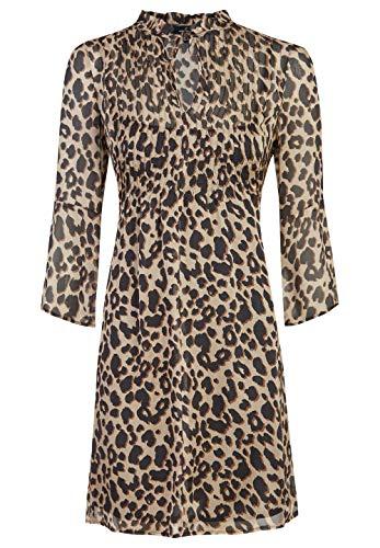 Daniel Hechter Damen Dress Kleid, Beige (Camel 430), (Herstellergröße: 38)