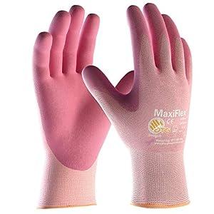 ATG 34-814 – Guante MaxiFlex Active, con aloe vera y vitamina E, color rosa, talla 5