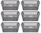 25cm Silver Plastic Handy Basket <span class='highlight'>Storage</span> Basket - Set Of 6