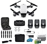 DJI Spark Intelligent Portable Mini Drone Quadcopter, Fly More Combo, with Must Have Accessories, 2 Batteries, 64 GB SD Card (Spark 3 Battery Bundle)