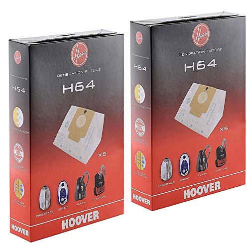 Hoover Original H64 Papier-Staubsauger für Freespace Sprint Flash Staubsauger (2 Stück)
