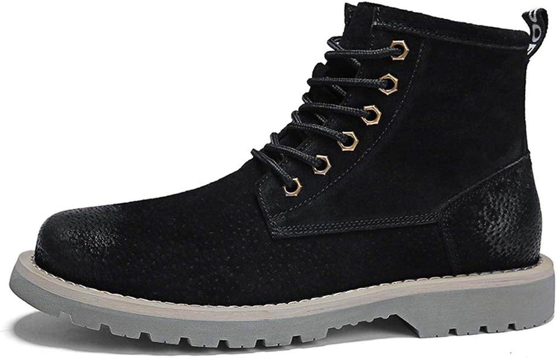 Jincosua Mens Large Größe Chukka Stiefel Fell gefüttert weiche Sohle Non Slip Lace up Ankle Stiefel (Farbe   Schwarz, Größe   EU 42)  | Gute Qualität